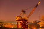 Crane, Purple Sky, Dry Dock 1, 2015